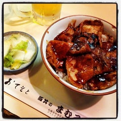 Photo taken at 豚丼 まむろ by tick_tuck on 8/15/2013