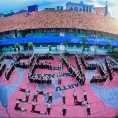 Photo taken at SMP Negeri 1 Surabaya by naznin i. on 6/6/2014