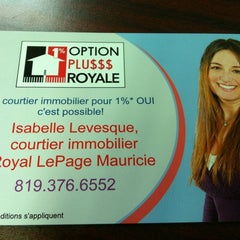 Photo taken at Royal lepage mauricie by Isabelle L. on 10/4/2012