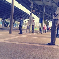 Photo taken at KTM Line - Bandar Tasik Selatan Station (KB04) by Izzatul A. on 7/3/2013