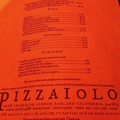 Photo taken at Pizzaiolo by Kouros M. on 11/25/2012