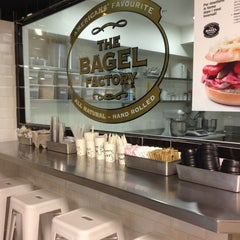 Photo taken at The Bagel Factory by Valentina D. on 4/2/2013