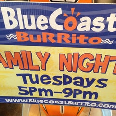 Photo taken at Blue Coast Burrito by Bryan T. on 5/21/2013