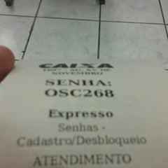 Photo taken at Caixa Econômica Cidade das Flores by Adriane P. on 2/2/2016