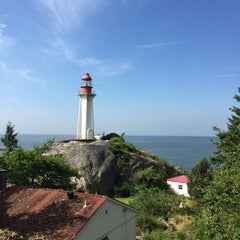 Photo taken at Point Atkinson Lighthouse by Jia on 5/21/2015
