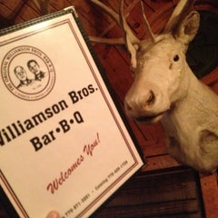 Photo taken at Williamson Bros Bar-B-Q by Joel S. on 11/3/2012