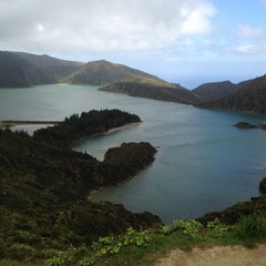 Photo taken at Miradouro da Lagoa do Fogo by Ana B. on 5/25/2014