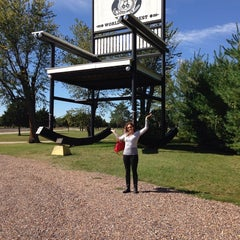 Photo taken at World's Largest Rocking Chair by Leah F. on 10/4/2014