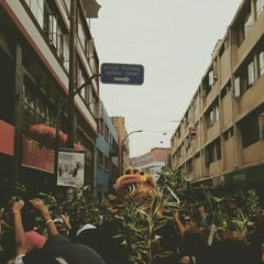 Photo taken at Calle Capón (Barrio Chino) by Yvis on 2/8/2016