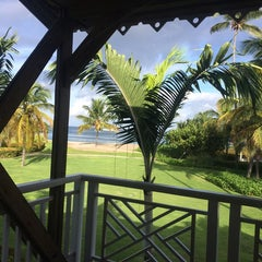 Photo taken at Four Seasons Resort Nevis, West Indies by Tricia K. on 7/10/2014