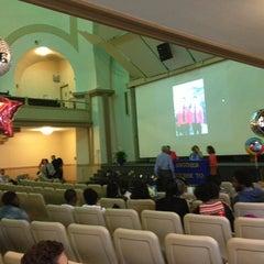 Photo taken at Boston University Morse Auditorium (BU Morse) by Kim H. on 6/9/2014