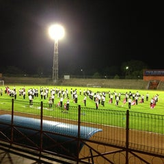 Photo taken at Stadion Mulawarman by Agung P. on 8/4/2013