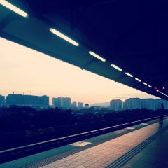 Photo taken at RapidKL Wangsa Maju (KJ3) LRT Station by Keiko E. on 5/28/2013
