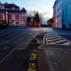 Photo taken at Karlovo náměstí (tram, bus) by Barbora V. on 12/26/2014