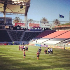 Photo taken at StubHub Center by Gabe R. on 3/10/2013