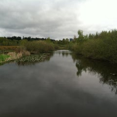 Photo taken at Mercer Slough North Bridge by Coral B. on 4/21/2013