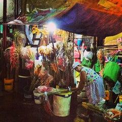 Photo taken at Dangwa Flower Market by Lean D. on 2/21/2013