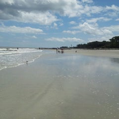 Photo taken at Hunting Island Beach by Nancy J. on 6/7/2013