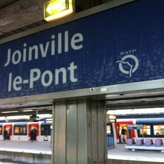 Photo taken at RER Joinville-le-Pont [A] by Juanlu F. on 11/7/2012