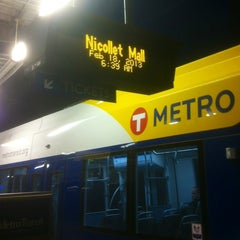 Photo taken at Nicollet Mall LRT Station by Glen A. on 2/18/2013