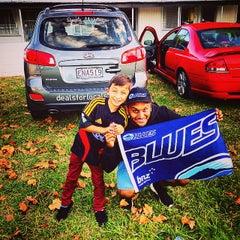 Photo taken at Waikato Stadium by Sanjet D. on 4/4/2015