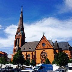 Photo taken at Gustav Adolfs torg by Mylinda J. on 6/12/2014