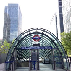 Photo taken at Canary Wharf London Underground Station by Alan B. on 5/12/2013