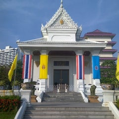 Photo taken at Rama IX Golden Jubilee Temple by Worawut P. on 1/5/2013