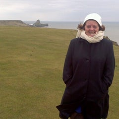 Photo taken at Worms Head by Anita H. on 3/10/2013