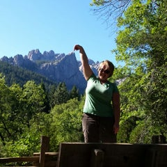 Photo taken at Castle Crags State Park by Miriam L. on 9/3/2014