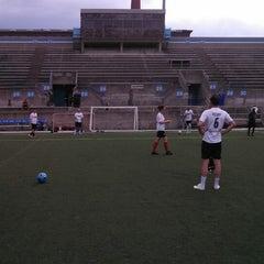 Photo taken at Lamport Stadium by Jijesh D. on 5/31/2013