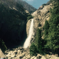Photo taken at Lower Yosemite Falls by Janina L. on 6/8/2015