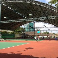Photo taken at Văn Thánh Tennis Court by David T. on 4/6/2012