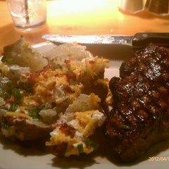 Photo taken at Black Angus Restaurant by Jim G. on 4/15/2012