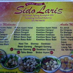 Photo taken at Bakmi Sido Laris by Sylvia S. on 3/11/2012