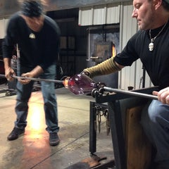 Photo taken at Morean Glass Studio & Hot Shop by Desmond C. on 10/27/2013