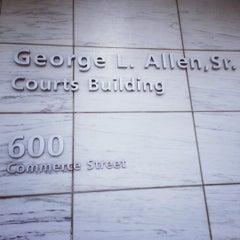 Photo taken at George L. Allen Sr. Courts Building by Dijea on 12/3/2012