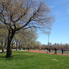 Photo taken at McCarren Park by Melanie T. on 4/21/2013