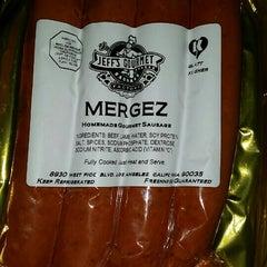 Photo taken at Jeff's Gourmet Kosher Sausage Factory by Joseph K. on 5/22/2015