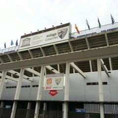 Photo taken at Estadio La Rosaleda by Abdullah A. on 10/24/2012