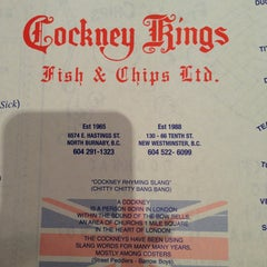 Photo taken at Cockney Kings Fish & Chips Ltd by Emily N. on 5/22/2013