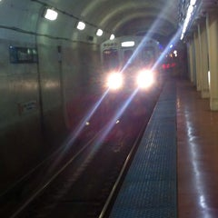 Photo taken at CTA - Grand (Blue) by Caroline L. on 8/31/2014