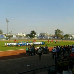 Photo taken at สนามกีฬาจังหวัดพระนครศรีอยุธยา by Buffer F. on 1/12/2013