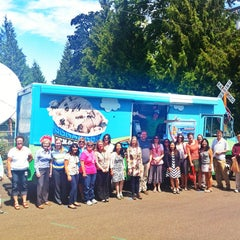 Photo taken at Oregon Public Broadcasting by Ben Jerry's Truck West on 7/23/2013
