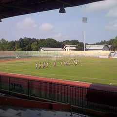 Photo taken at Stadion Wijayakusuma Cilacap by Yanuar P. on 8/7/2014