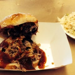 Photo taken at Mrs. Smokeys Real Pit BBQ by Gym on 8/28/2014