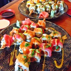 Photo taken at Yabi Sushi by Angela on 11/24/2013