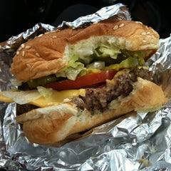 Photo taken at Five Guys by S. G. on 9/26/2012