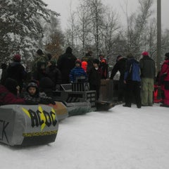 Photo taken at Camp Wilderness Sledding Hill by Brad O. on 3/10/2013