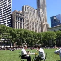 Photo taken at Bryant Park by Ray W. on 6/4/2013